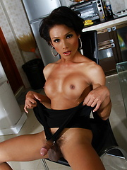 Super hot tgirl Sonya strips & poses